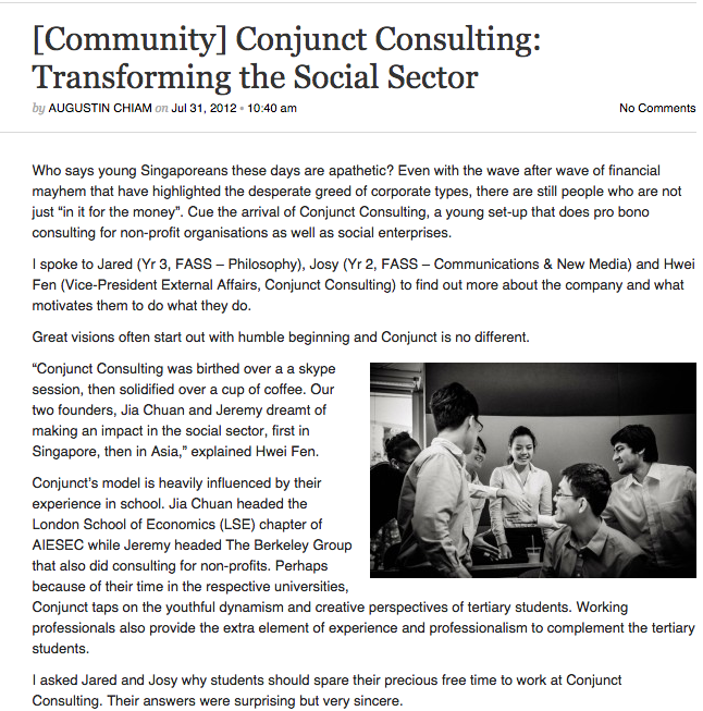 Conjunect Consulting - Transforming the Social Sector